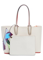 c42581d585f1 ... Christian Louboutin Small Cabata Love Embellished Leather Tote
