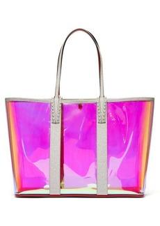 Christian Louboutin Cabata spike-embellished iridescent-PVC tote