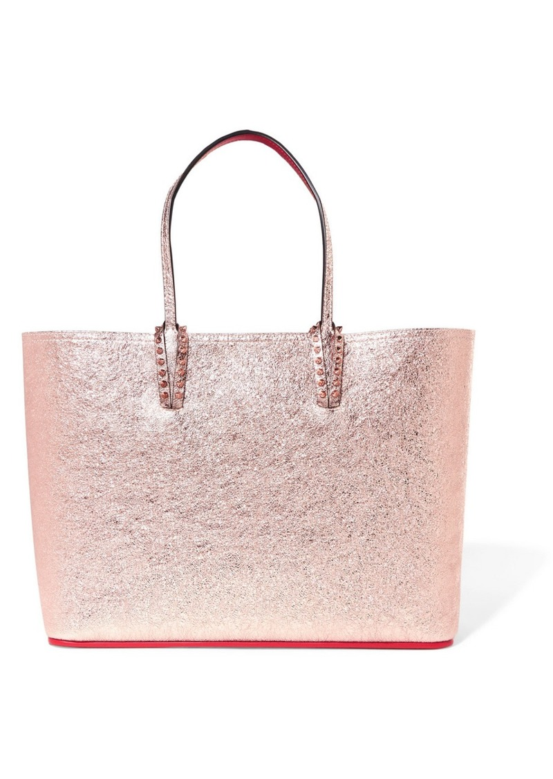 0068c29bf90c Christian Louboutin Cabata spiked metallic textured-leather tote ...