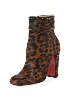 Christian Louboutin Cadra Spiked 100mm Red Sole Bootie
