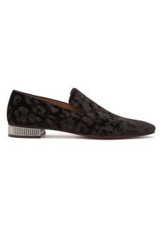 Christian Louboutin Captain Colonnaki leopard-jacquard velvet loafers