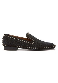 Christian Louboutin Casanoboy spiked glittered leather loafers
