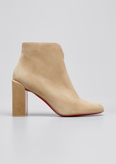 Christian Louboutin Castarika Suede Ankle Booties