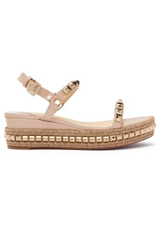Christian Louboutin Cataclou 60 leather flatform espadrille sandals