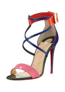 Christian Louboutin Choca Colorblock Red Sole Sandal