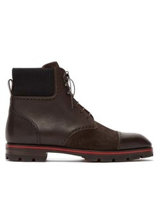 Christian Louboutin Citycroc leather and suede lace-up boots