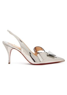 Christian Louboutin Clare Nodo 80 bow leather slingback pumps