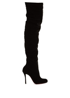 Christian Louboutin Classe 125 over-the-knee velvet boots