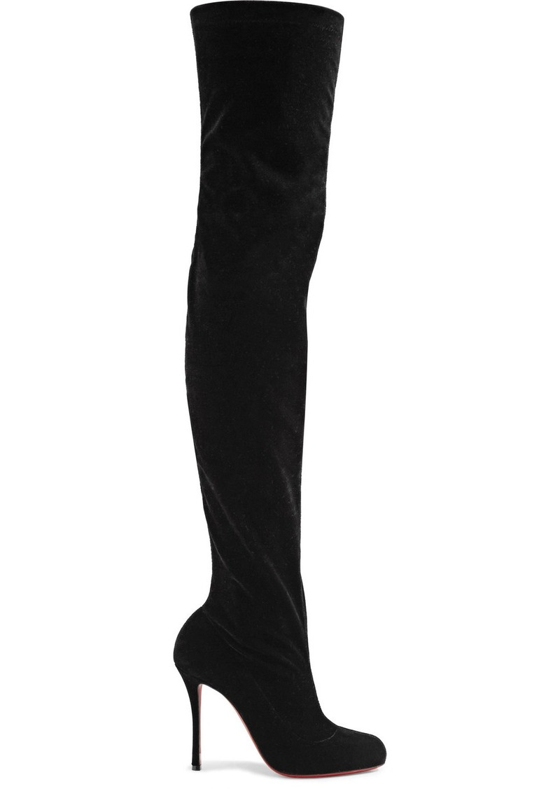 71bff8961b7 Christian Louboutin Classe 100 Stretch-velvet Over-the-knee Boots ...