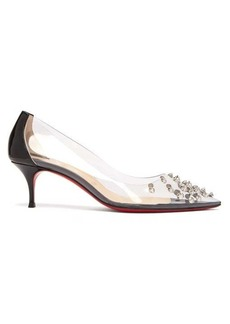 Christian Louboutin Collaclou 55 spike-studded PVC pumps