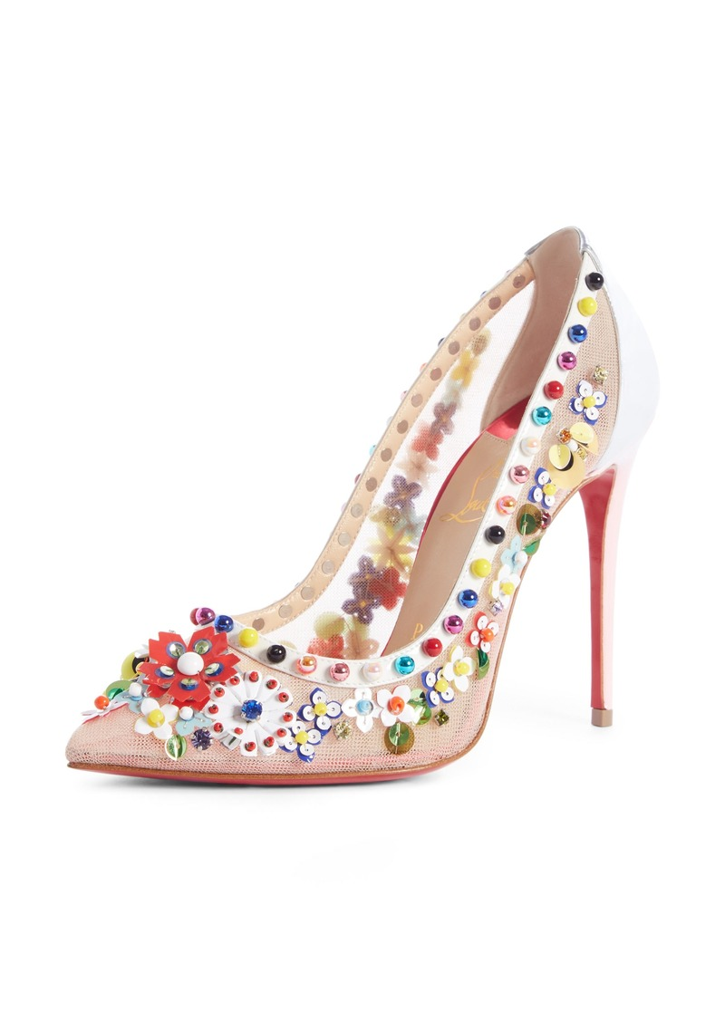 3c8d82799fa Christian Louboutin Christian Louboutin Constella Embellished Mesh ...