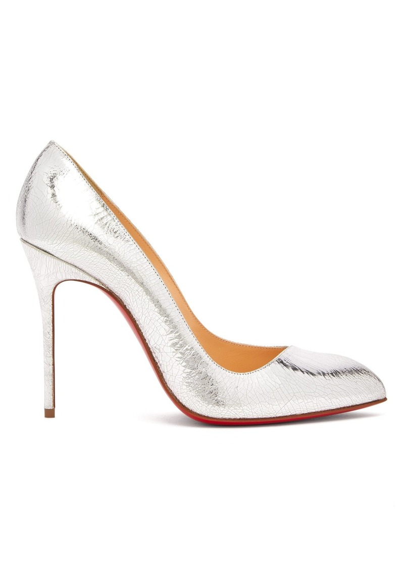 Christian Louboutin Corneille 100 cracked-leather pumps