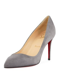 Christian Louboutin Corneille Suede Red Sole Pumps