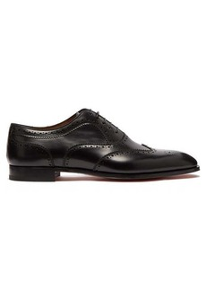Christian Louboutin Cousin Platerissimo leather brogues