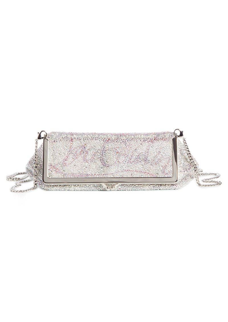 Christian Louboutin Daisy Crystal Embellished Clutch