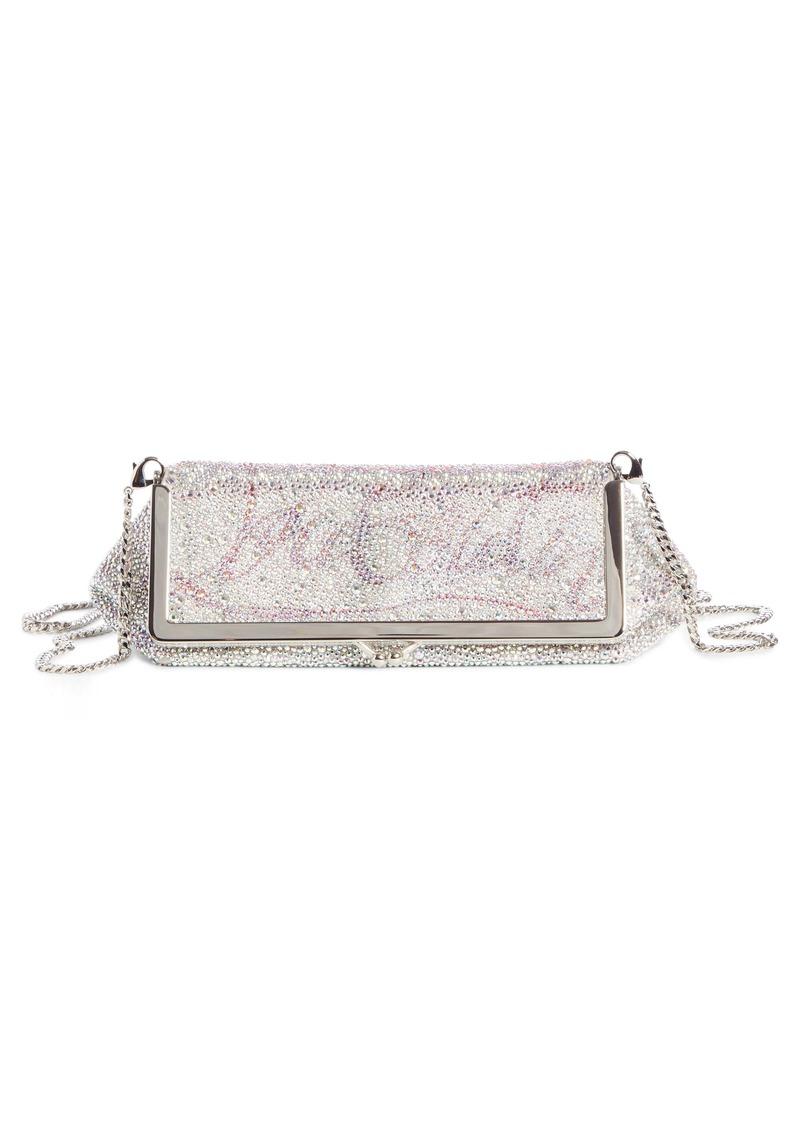 Christian Louboutin Daisy Crystal Embellished Clutch