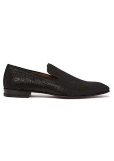 Christian Louboutin Dandelion metallic shantung loafers