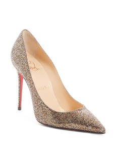 Christian Louboutin Décolleté Metallic Mesh Pump (Women)
