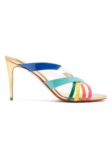 Christian Louboutin Decidela 85MM cross-over leather heeled sandals