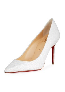 Christian Louboutin Decolette 85mm Glitter Red Sole Pumps