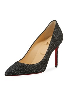 Christian Louboutin Decollete Glitter Red Sole Pumps