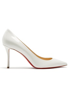 5922e308bf1c Christian Louboutin Actina 85 Metallic Lizard-effect Leather Pumps ...
