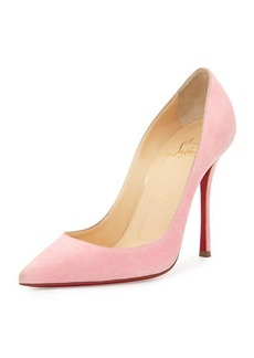 Christian Louboutin Decoltish Suede 100mm Red Sole Pump