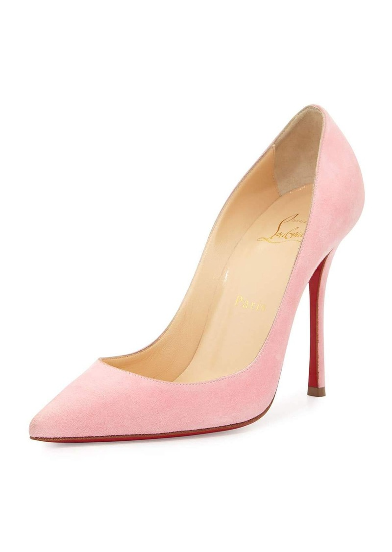 best authentic 1db5b 5f503 Christian Louboutin Christian Louboutin Decoltish Suede 100mm Red Sole Pump  | Shoes