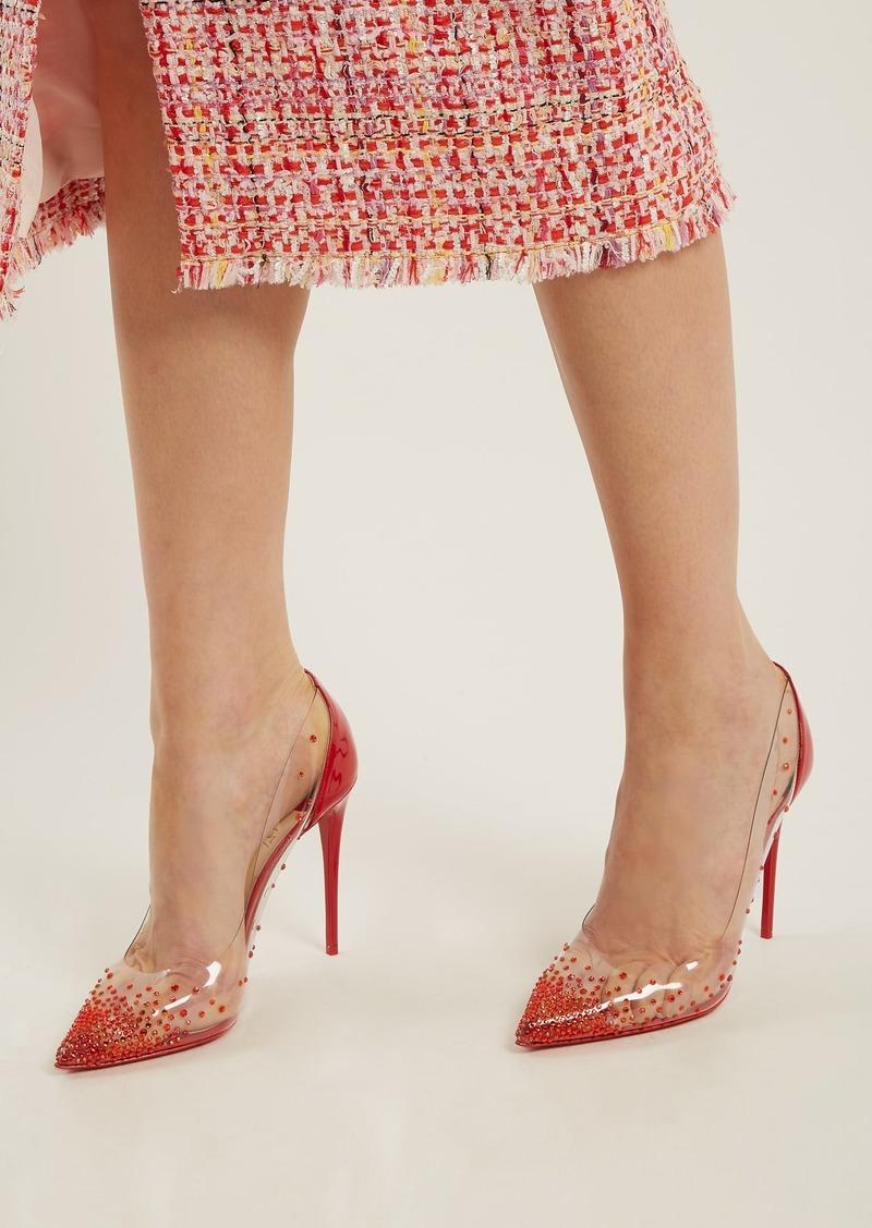save off 8c46b 1da36 Christian Louboutin Christian Louboutin Degrastrass 100 crystal-embellished  pumps | Shoes