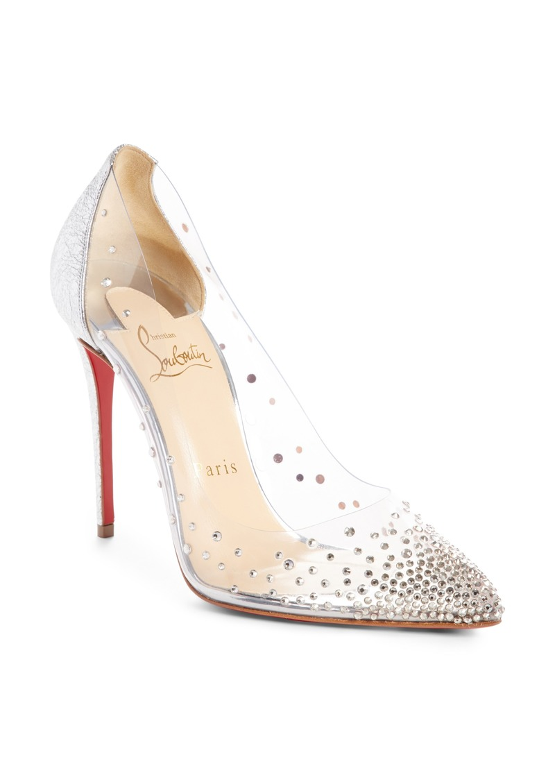 9ec40325c97 Christian Louboutin Degrastrass Clear Embellished Pump (Women)
