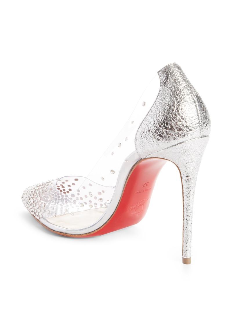 big sale c06b7 3b747 Christian Louboutin Christian Louboutin Degrastrass Clear Embellished Pump  (Women) | Shoes