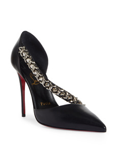 Christian Louboutin Deomina Chain Spike Pointed Toe Pump (Women)