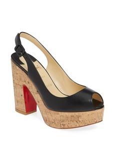 Christian Louboutin Dona Anna Slingback Platform Sandal (Women)