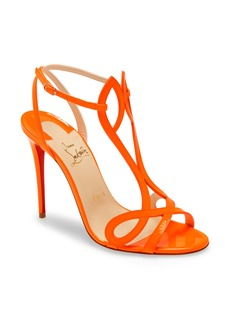 Christian Louboutin Double L Fluorescent Patent Leather Sandal (Women)