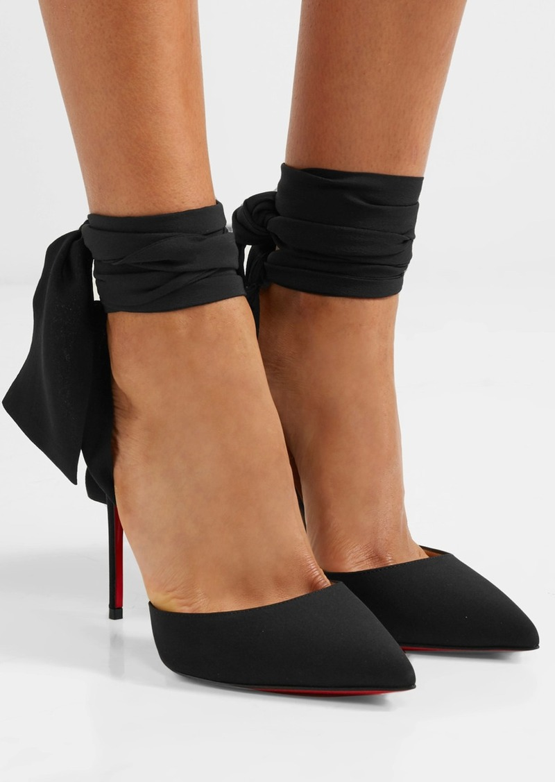 hot sale online b58c3 9fd77 Christian Louboutin Christian Louboutin Douce du Desert 100 crepe de chine  pumps | Shoes