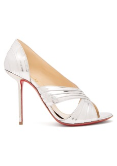 Christian Louboutin Drapa Notta 100 metallic patent-leather pumps
