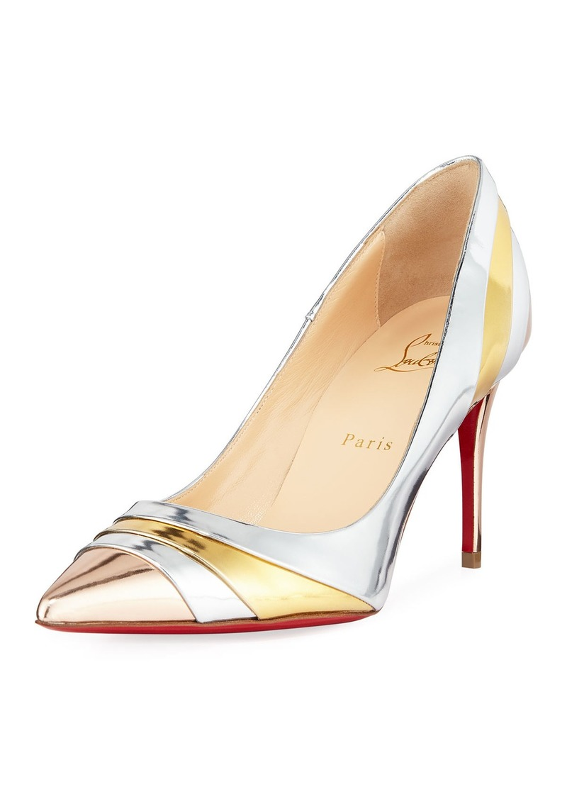 sports shoes 1b56c 6e524 On Sale today! Christian Louboutin Christian Louboutin Eklectica Crackled  Red Sole Pumps