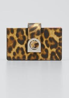 Christian Louboutin Elisa Leopard-Print Accordion Wallet
