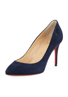 Christian Louboutin Eloise Veau Velours Red Sole Pumps
