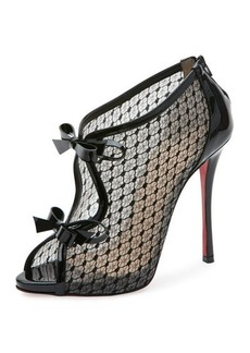 Christian Louboutin Empirealta Lace 120mm Red Sole Bootie