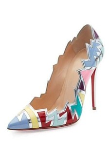 Christian Louboutin Explotek Jagged Leather 100mm Red Sole Pump