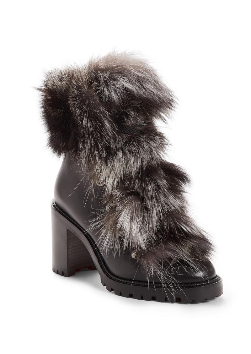 e3e0d9b9e80 Christian Louboutin Christian Louboutin Fanny Genuine Fox Fur Boot ...