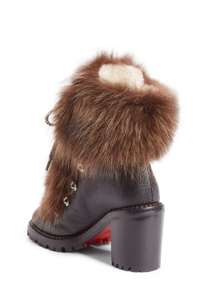 best website 7d3ae 083c3 Christian Louboutin Christian Louboutin Fanny Genuine Fur Boot (Women) |  Shoes