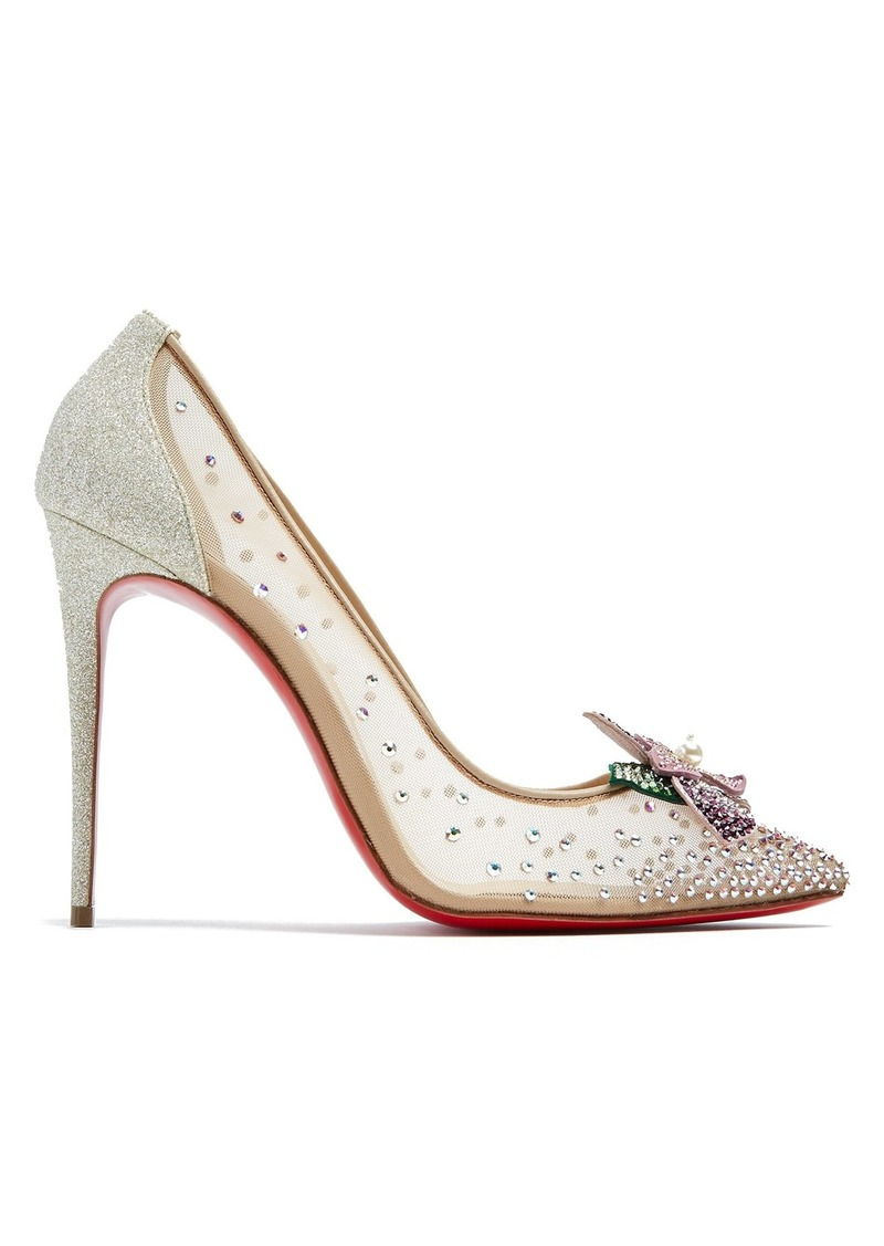 new arrival e748d 047cc Feerica 110 crystal-flower embellished pumps