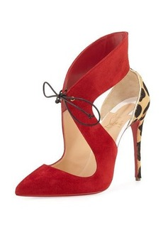 Christian Louboutin Ferme Rouge Self-Tie Red Sole Pump