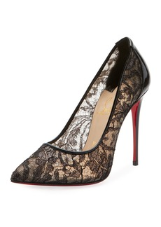 Christian Louboutin Follies Lace Red Sole Pumps