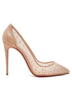 Christian Louboutin Follies 100 mesh pumps