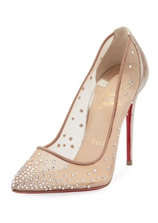 Christian Louboutin Follies Strass 100mm Red Sole Pumps with Cork