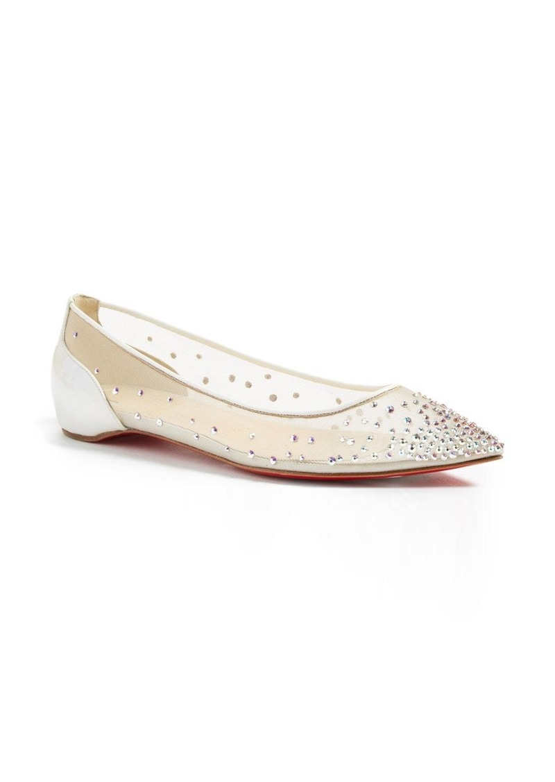 buy popular e3863 cc16c Follies Strass Pointy Toe Flat