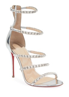 a28e440f496 Christian Louboutin Faridaravie 100 Leather & PVC Slingback Sandals ...